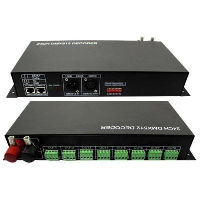 24 Channel led DMX decoder(rgb dmx512 lighting controller)