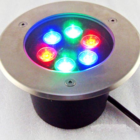 6W Underground RGB lighting LED Lamp