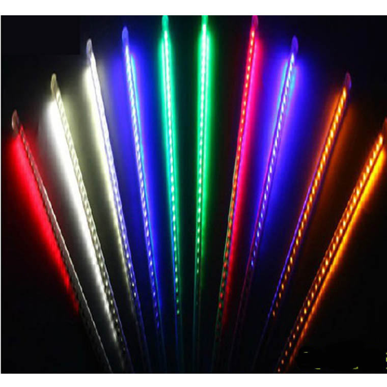 Christmas Rain Colorful LED xmas snow fall meteor tube(20CM)