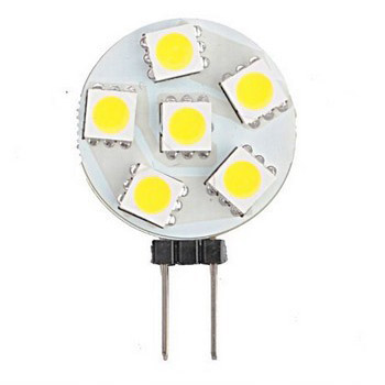 G4 led 12v Round led bulbs Disc-shaped with 6 Tri-chip 5050 SMD