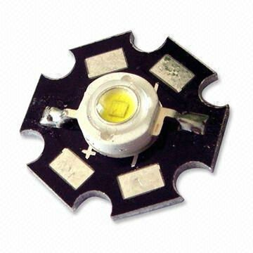 1w power led lights with welding plate(aluminum base heat sink)