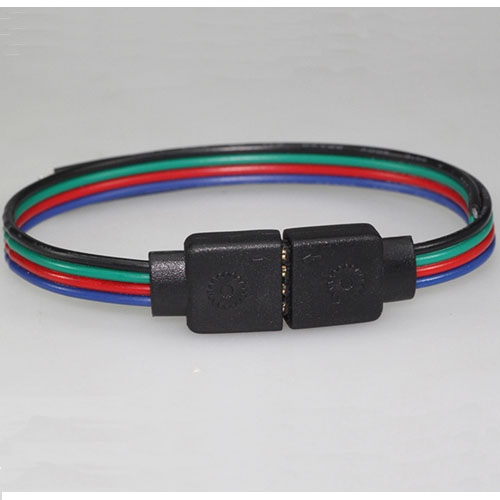 RGB LED strip connector(4-Pin Rgb Led Strips Connect Cable)