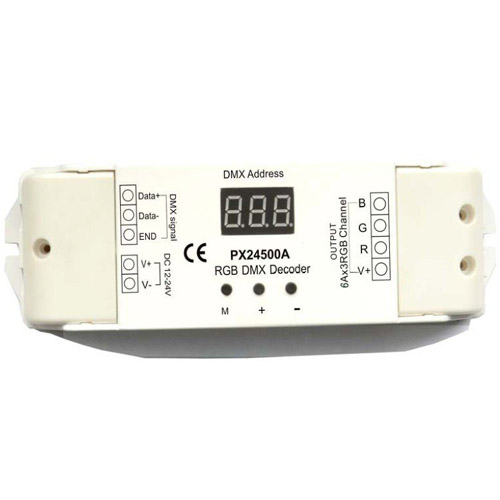 RGB DMC LED decoder(3CH*6A digital DMX512 lighting controller)