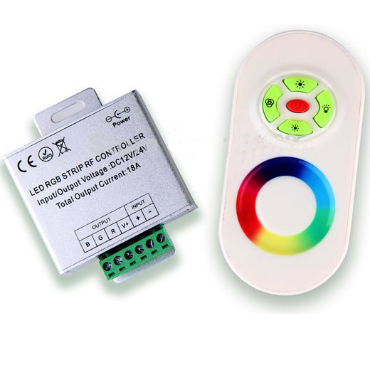 RGB led controller(Rainbow RF Remote Touch to Control strip)