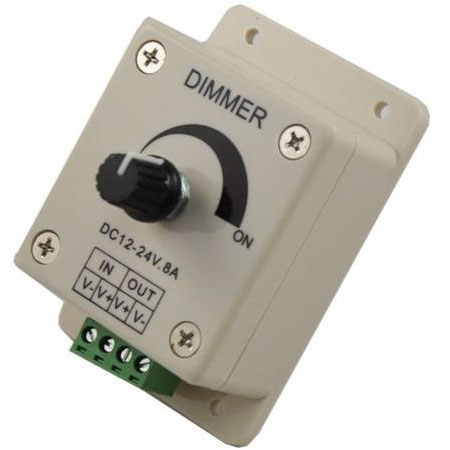 LED dimmer controller(Single Color Knob Adjustable Brightness)