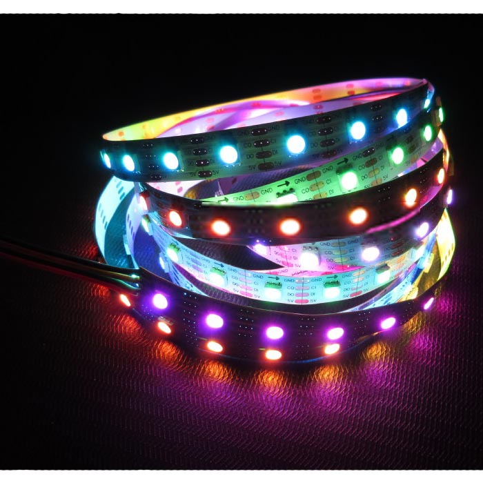 APA102 led pixel strip(144pcs APA102-5050 LED/M with 144pixels)
