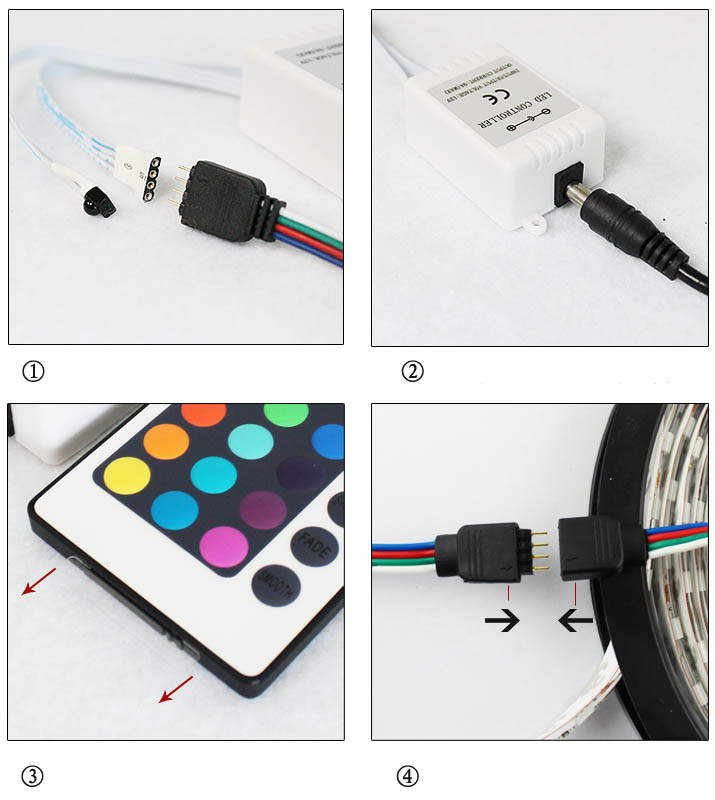 strip remote power+led controler+power supply