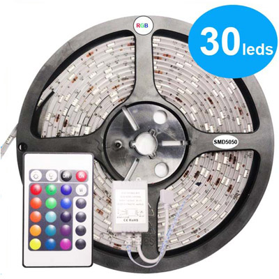 SMD5050 Flex LED Strip Lights, 12V strip lighting, 150LEDs/reel