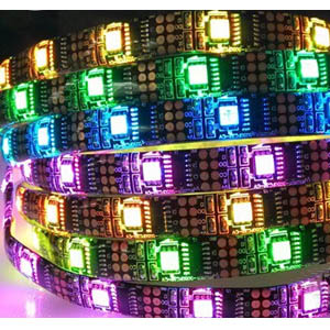 12V WS2801 RGB LED strips